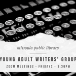 Young Adult Writers' Group flyer