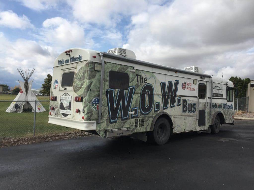 Web on Wheels Bus