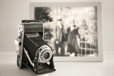antique camera and photo