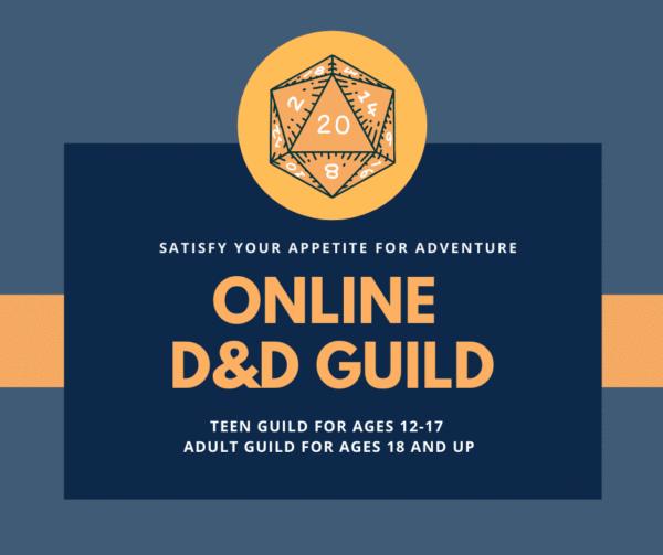 Online D&D Guild flyer