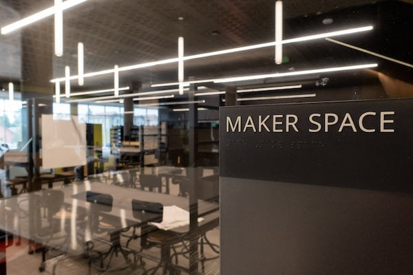 Makerspace nameplate