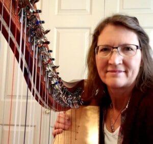 Janice Mineer and harp